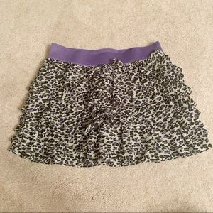 Justice Girls Animal Print Skirt Size 14